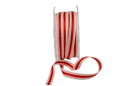 Beautiful Ribbon 1 Rouleau de Ruban Gros-Grain 50 mm 5cm x 20 m/ètres Coquelicot Rouge Vif Double Face nervur/é 50 mm