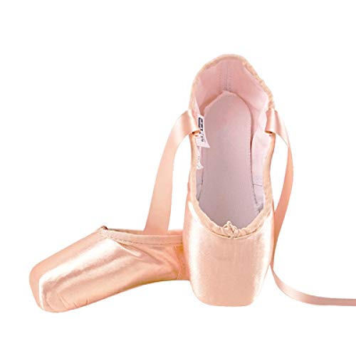 Neue Ballett Spitzenschuhe Kinder und Erwachsene Ballett Pointe Tanzschuhe Damen Professionelle Ballett Tanzschuhe mit Bändern Schuhe, Beige - nude - Größe: 45.5 EU