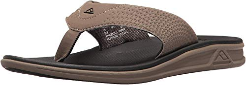 Reef Men's Sandals Rover | Water-Friendly Men's Sandal With Maximum Durability and Comfort | Waterproof, Tan/Black, 7