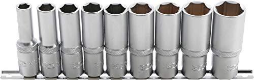 BGS 2223 | Steckschlüssel-Einsatz-Satz Sechskant, tief | 9-tlg | 12,5 mm (1/2 Zoll) | SW 10 - 24 mm | CV-Stahl