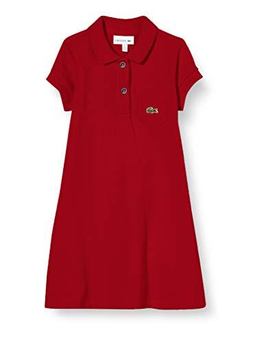 Lacoste EJ2816 Vestido, Alizarine, 5 años para Mujer
