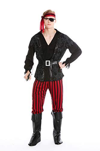 dressmeup Dress ME UP - M-0162-M Disfraz Hombre Carnaval Pirata corsario bucanero Talla M/L