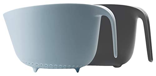 IBILI 740620 Set de Bol-Passoire Norway, Plastique, Blau, 28 x 23 x 16 cm