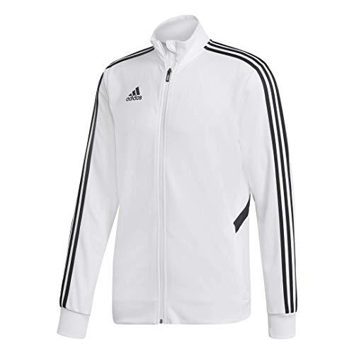 adidas Men's Alphaskin Tiro Training Jacket, White/Black, Large