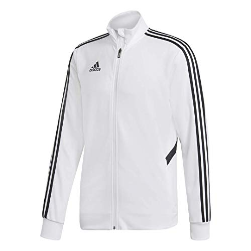 adidas Men's Alphaskin Tiro Training Jacket, White/Black, Medium