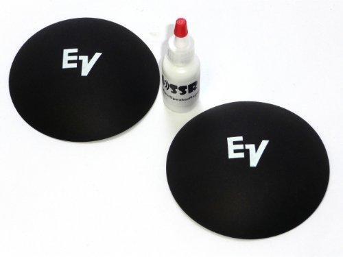 """2 EV Electro Voice 4 1/8"""" Logo Dust Caps with Adhesive - White Logo"""