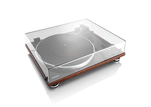 Lenco Slim Line platenspeler (USB-poort, Audio Technica Micros, aandrijfriemen, houten behuizing) Walnoot