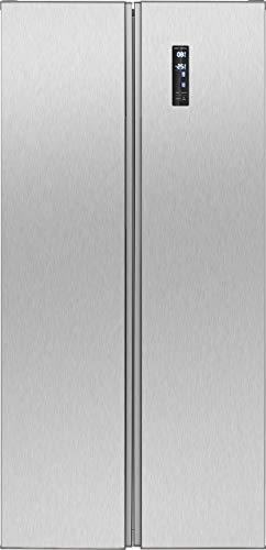 Bomann SBS 7322 IX Kühl-Gefrierkombination Side-by-Side/A+ / 178,5 cm Höhe / 381 kWh/Jahr / 249 Liter Kühlteil / 180 Liter Gefrierteil/Total No Frost/Edelstahloptik