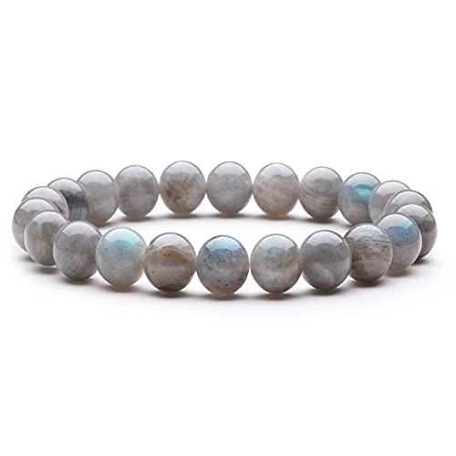 Bracelet Grade A pierre De Lune Bracelet Perles Bracelet Pierre Naturelle Bracelet Perles 8mm Bracelet Élastique Bracelet Semi Précieuse Cadeau Noel