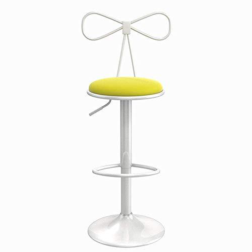Möbel Barhocker Barhocker Drehbarer Leder Barhocker Weiße Sprühfarbe Höhenverstellbare kubanische Barstühle mit Rückenlehne und Fußstütze für Frühstücksbar, Küchenbarhocker