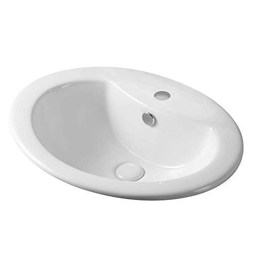 LAVABO SOPRA-PIANO CON FORO RUBINETTO Sanitari Ceramica LINPHA LS66 56x46