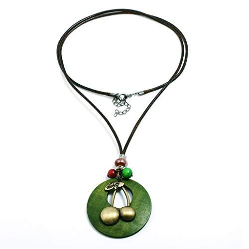 YANGLILI Ketting, dames ketting - vintage ketting - eenvoudige wax ketting - legering ketting - persoonlijkheid lange trui ketting