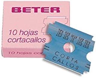 BETER PHARMACY - Lote de 2 paquetes de 10 cuchillas para cortar callos, afeitadora pedicura, 2,5 cm: Amazon.es: Belleza