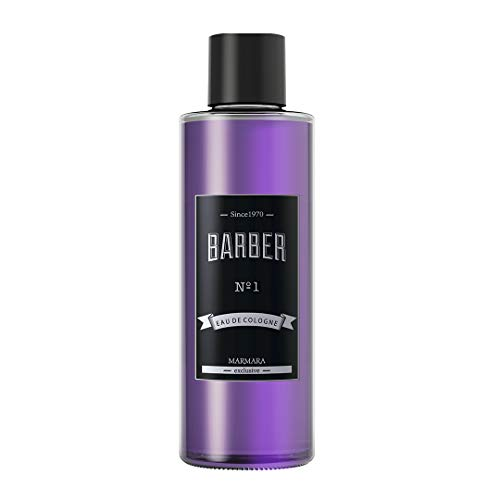 :MARMARA Barber Eau de Cologne Herren No.1 500ml im Glas Flacon After Shave Men Duftwasser Rasierwasser Männer, Erfrischt kühlt langanhaltender Duft Herren verhindert Rasurbrand rötungen pickelchen