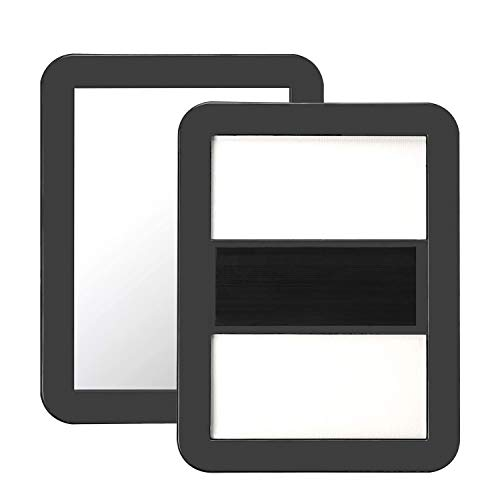 BaiJ Magnet Spiegel für Schulspind,Kleiner Magnetspiegel für Schulschließfächer Badezimmer Kühlschrank Werkstatt Büroschrank Kunststoff Schulspiegel Magnet Spind Zubehör Schwarz