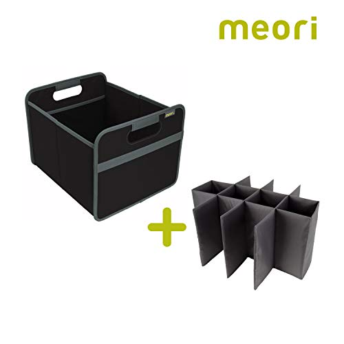 meori Black Foldable 12 Bottle Wine Carrier Lava Carry Case Glasses Shopping Vacation Picnic Dinner Party Park Beach Sports, Slot