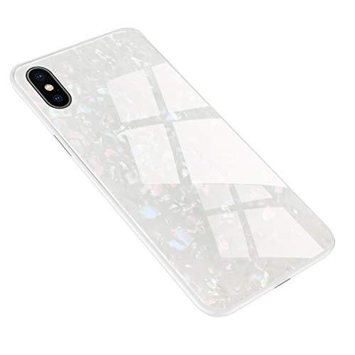 Caler Hülle Kompatibel mit Huawei P20 Pro Hülle Hochwertigem 9H Gehärtetem Marmor Glas Rückseite mit TPU Rahmen Schutzhülle Ultra Dünn Handyhülle Rahmen Hüllen [Stoßfest] Slim Shell Case - 2
