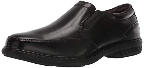 Nunn Bush Men's Martone Moccasin Toe Slip On Loafer with KORE Comfort Technology, Black, 12 Medium