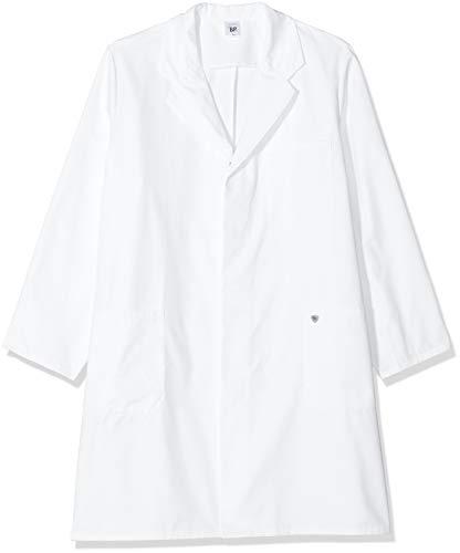 BP 1656-130-21-3XLn Unisex-Mantel, Langarm, Kragen mit Aufschlag, 205,00 g/m² Reine Baumwolle, weiß, 3XLn