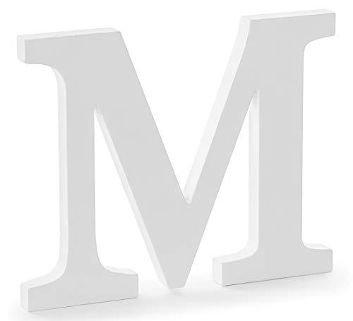 DekoHaus Weiß Holzbuchstabe M 25 x 20 cm
