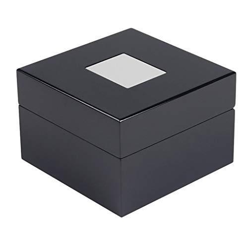 P Prettyia Uhrenbox/Kasten für Uhr, Holz Uhrenschachtel Uhrenetui Uhrenvitrine mit Glänzender Oberfläche und Deckel für Armbanduhren
