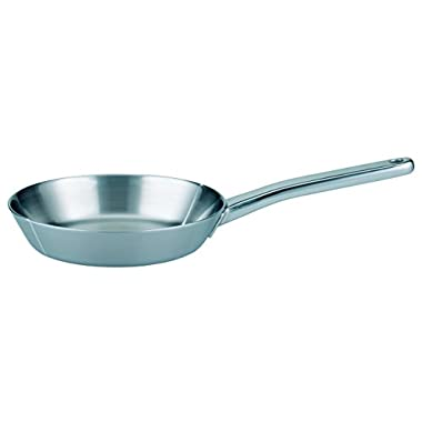 ELO Premium Multilayer Stainless Steel Kitchen Induction Cookware Frying Pan with Multilayer Heating System, Easy-Pour Rim and Heat Resistant Handle, 8-inch