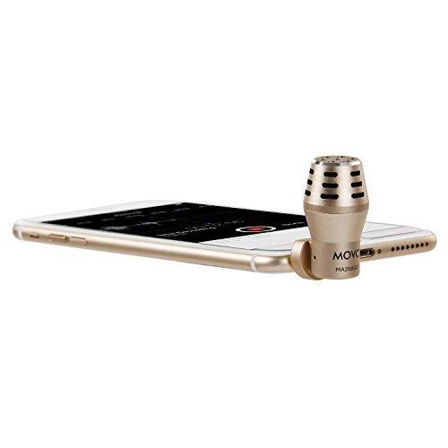 Das MA200 Omnidirektionale geeichte TRRS Condenser Mikrofon für Apple iPhone, iPodTouch, iPad (Gold)