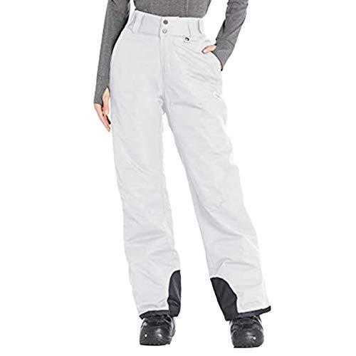 FOTBIMK Pantalones vaqueros para mujer, unisex, aislados, para nieve, color sólido, pantalones de bolsillo, pantalones para mujer, pantalones para mujer
