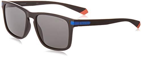 Polaroid PLD 2088/s Sunglasses, 0VK/M9 MTBLK Blue, 55 Unisex-Adult