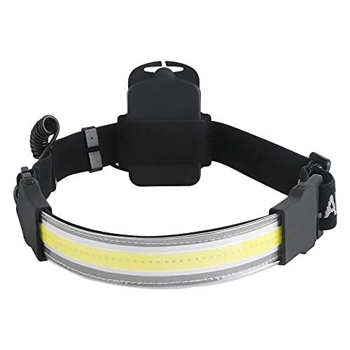 XLENTGEN Linterna Frontal LED Súper Brillante 2000 lumens COB Linterna Cabeza Impermeable 3 Modos Ligera Alta Potencia Casco Ligera Haz Ancho 220°para Exteriores para Correr Acampar Cazar Caminar