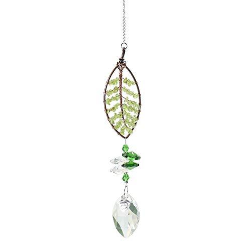 BoBoLily Glaskristall-Anhänger, Glaskristalle, hängende Tropfen-Anhänger, Kristall-Herz, Lebensbaum-Anhänger,...