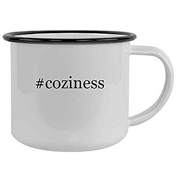 #coziness - 12oz Hashtag Camping Mug Stainless Steel Black