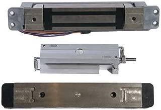 Schlage Electronics GF3000TRD Top-Rail Mortise-Mounted Shear Electromagnetic Lock, Single Inswinging or Outswinging Door, Horizontal Mount, 3,000 lb. Holding Force, Satin Aluminum Finish