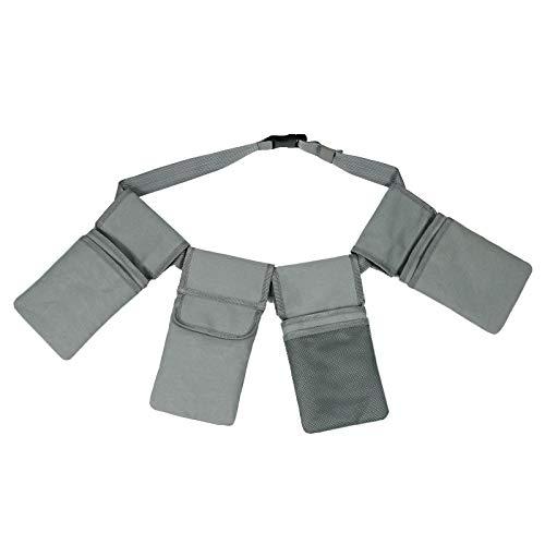 Bongba Bolsa de Almacenamiento de Herramientas de Jardín con Bolsillos Cinturón de Herramientas Acolchado de 4 Bolsillos/Bolsa de Utilidad con Cinturón Lona de Jardín para Hombre Mujer