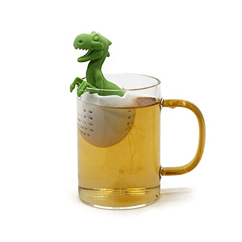 Cheap Jemets Dinosaur Baby Tea Leak Silicone Product Tyrannosaurus Tea Strainer Dinosaur Tea Maker T...