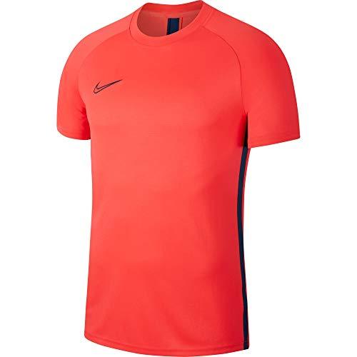 Nike Dry Academy, T-Shirt Uomo, Laser Crimson/Valerian Blue, L