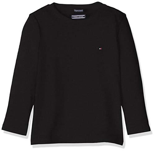 Tommy Hilfiger Jungen Boys Basic Cn Knit L/S T-Shirt, Schwarz (Meteorite 055), 164 (Herstellergröße: 14)