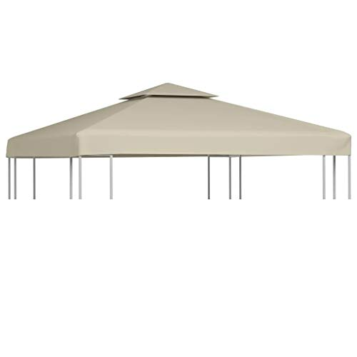 SHANG Top Cover for Gazebo, Replacement Gazebo, Waterproof Cover Replacement for Gazebo 310g/m2 3x3m Beige