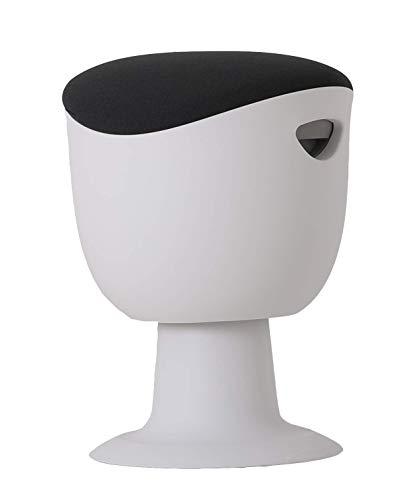Worktrainer Balanskruk Tulip Stool ergonomisch in hoogte verstelbaar en draaibaar (wit/grijs)