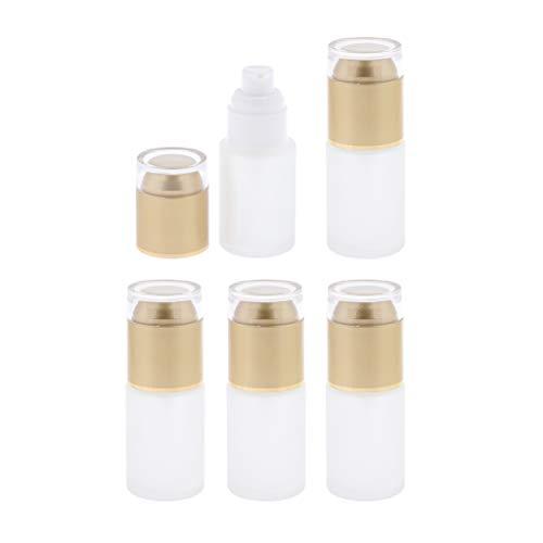 Fenteer 5pcs Bouteille de Pompe Flacons Pompe shampooings - Doré