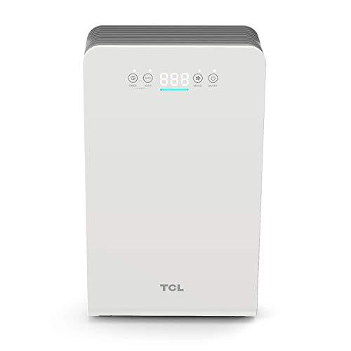 TCL Purificatore d'aria, fino a 25 m2 con Sensori di livello di Inquinamento, 3 Sistemi di...