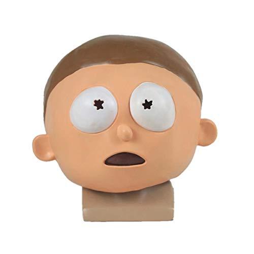 hcoser Rick y Morty Anime Máscara de Morty Casco Cosplay para Fiestas de...