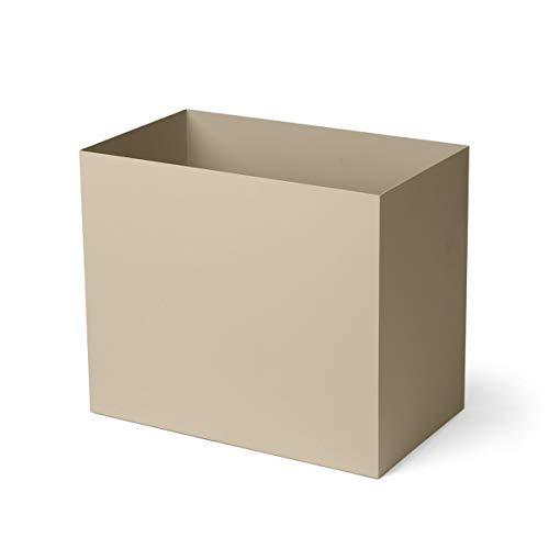Ferm Living Plant Box Pot Large Fioriera, Acciaio, Marrone, B: 19.5 x H: 27.7 x T: 33 cm