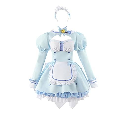5PCS Anime NEKOPARA Chocola Vanille Schöne Magd Schürze Kleid JK Outfit für Halloween Karneval Cosplay Kostüm