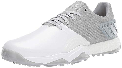 adidas Men's Adipower 4ORGED Golf Shoe, Clear Onix/Matte Silver/FTWR White, 9.5 M US