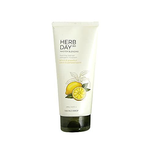 The Face Shop - Herb Day 365 - Lemon Cleansing Foam 170ml - Mousse nettoyante au citron - pour le visage - Gel nettoyant pour le visage