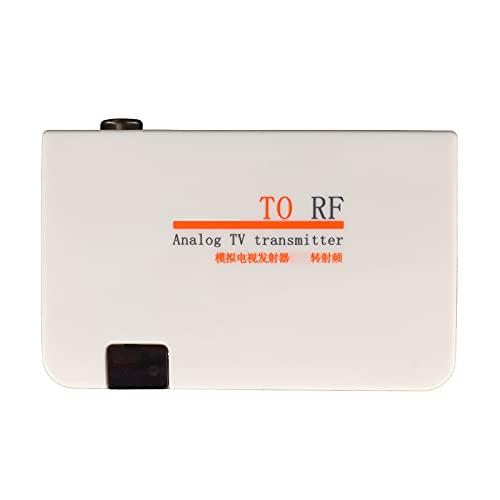 Convertidor De Interfaz HDMI A Adaptador RF, Adaptador De Cable Coaxial RF Con Salida Coaxial, Transmisión De Señal De Larga Distancia, Señal Analógica HDMI A RF Para Reproductores De DVD(blanco)