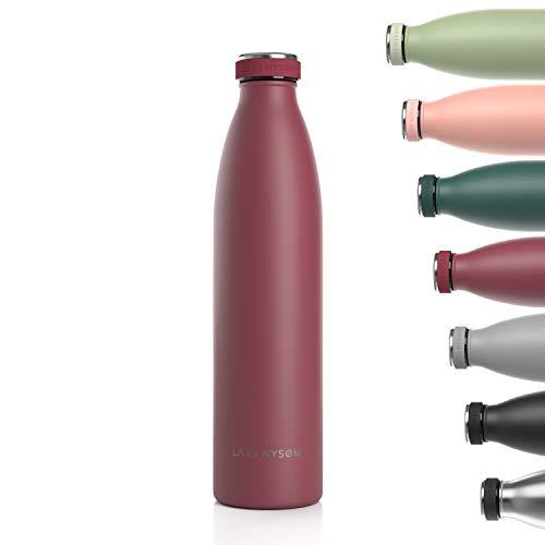 Lars NYSØM Gourde INOX 1000ml | 1L Bouteille d'eau isolée sans BPA | Gourde étanche pour Le Sport, la...