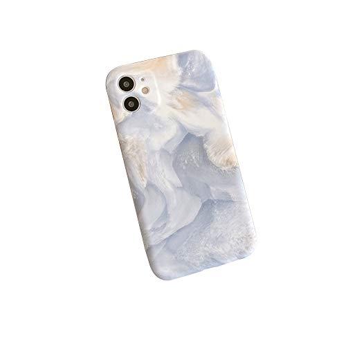 WYCcaseA Carcasa para iPhone 12/12 Mini/12 Pro MAX Funda Mármol Funda Silicona Cascara Ultrafina Suave Cover Protectora Anti Rasguños Anti Arañazos Back Cover,Blanco,12promax