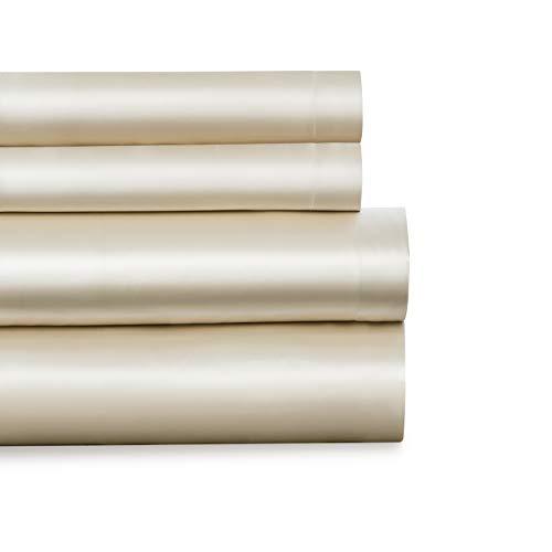 Baltic Linen Juego de sábanas Suaves satinadas, California King, Color Negro, Queen_Ivory, Queen, 1